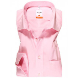 Chemise manches longues 100% coton sans repassage & infroissable Olymp Luxor rose modern fit 0300/64/30