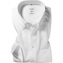 Chemise manches longues Olymp Luxor blanche comfort fit pointes boutonnées 0251/64/00