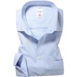 Chemise manches longues 100% coton sans repassage & infroissable Olymp Luxor ciel comfort fit 5131/64/11
