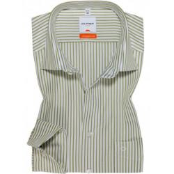 Chemise manches longues 100% coton sans repassage & infroissable Olymp Luxor rayures vert tilleul modern fit 8307/64/46