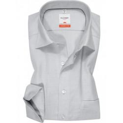 Chemise manches longues 100% coton sans repassage & infroissable Olymp Luxor blanche effet natté modern fit 3324/64/00