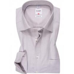 Chemise manches longues 100% coton sans repassage & infroissable Olymp Luxor blanche effet natté comfort fit 3124/64/00
