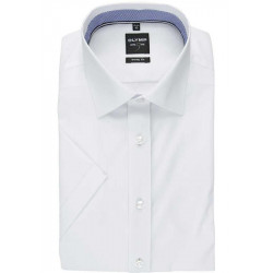Chemise manches courtes Olymp Level Five blanche
