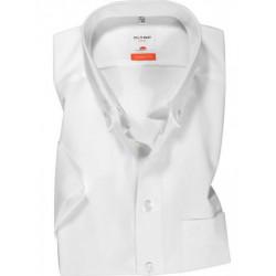Chemise manches courtes 100% coton sans repassage & infroissable Olymp Luxor blanche modern fit 0303/12/00 pointes boutonnées