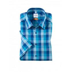 Chemise manches courtes 100% coton sans repassage & infroissable Olymp Luxor 3383/12/42 bleu/turqoise modern fit