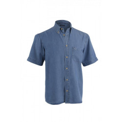 Chemise manches courtes Frédéric II Chambray