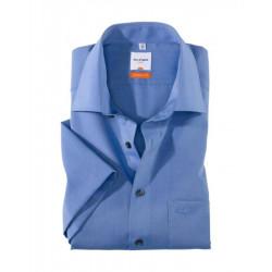 Chemise manches courtes 100% coton sans repassage & infroissable Olymp Luxor 0304/12/15 bleu modern fit