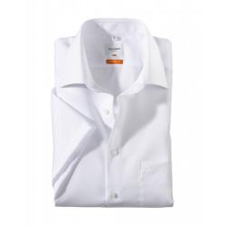 Chemise manches courtes 100% coton sans repassage & infroissable Olymp Luxor 0300/12/00 blanche modern fit