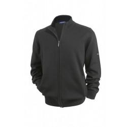 Veste tricot zippée Colorado Noir/Anthracite