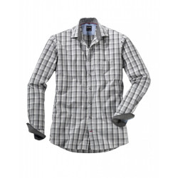 Chemise manches longues Olymp Casual carreaux gris 4440/64/69