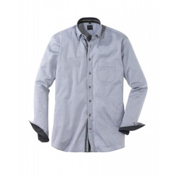 Chemise manches longues Olymp Casual oxford anthracite 4457/64/67