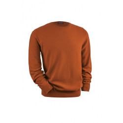 Pull col rond Windsor Acajou