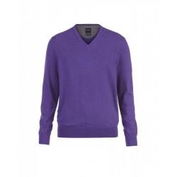 Pull col V coton & cachemire 0161/10/94 violet