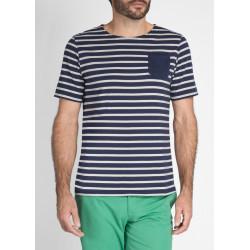 T-Shirt Bolbec Marine/Ecru