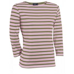 T-Shirt Galathée Rose/olive