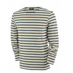 T-Shirt Méridien Moderne Ecru/Marine