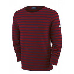 T-Shirt Méridien Moderne Rouge/Indigo