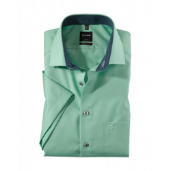 Chemise manches courtes Olymp Luxor vert clair modern fit