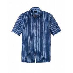 Chemise manches courtes Olymp Casual fantaisie marine