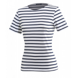 Tee-shirt manches courtes Etrille Neige/Marine