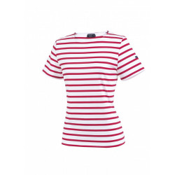 Tee-shirt manches courtes Etrille Neige/Tulipe