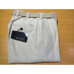 Pantalon lin & coton Madrid 4813 041 Beige