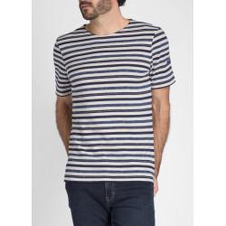 T-Shirt manches courtes Mérignac Ecru/Marine