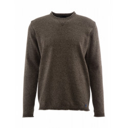 Pull 7525 Armor Lux Army marron chiné