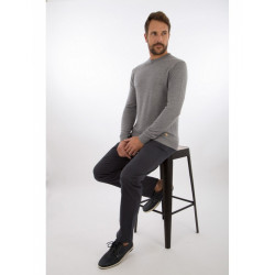 Pull col rond Héritage 75755 Armor Lux gris clair