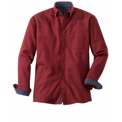 Chemise manches longues Olymp Casual fantaisie rouge 4050/84/35