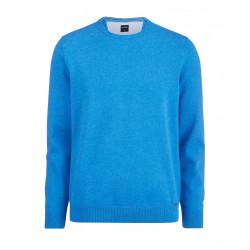 Pull coton Olymp Casual 0160/11/17 Bleu de Nuremberg