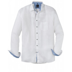 Chemise manches longues Olymp Casual 100% lin blanc 4054/14/00