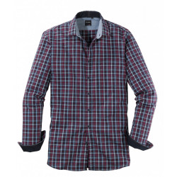 Chemise manches longues Olymp Casual 4040/24/38 carreaux marine/chianti/rose