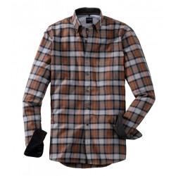 Chemise manches longues Olymp Casual 4050/24/28 carreaux gris/marron/orange