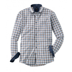 Chemise manches longues Olymp Casual 4056/24/28 carreaux marron
