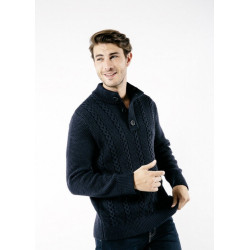 Pull col montant Cabourg Navy