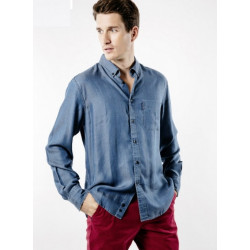 Chemise Frederic III ML Chambray Saint James