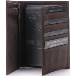 Portefeuille Arthur & Aston 1438 805 C Chataigne-Maroquinerie Quey Charlieu