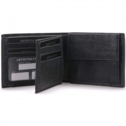 Portefeuille Européen Arthur & Aston 1438 499 A Noir Maroquinerie Quey Charlieu
