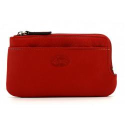Porte monnaie cuir - Francinel - 58902 Rouge-Maroquinerie Quey Charlieu