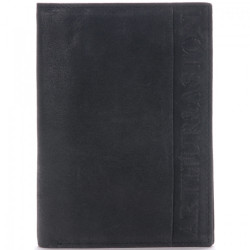 Portefeuille européen Arthur & Aston 1438 800 A Noir-Maroquinerie Quey Charlieu