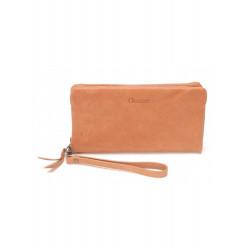 Porte feuille porte monnaie - Mocca - M1 009 Cognac-Maroquinerie Quey Charlieu