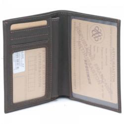 Portefeuille européen cuir Arthur & Aston - 94 806 C Châtaigne