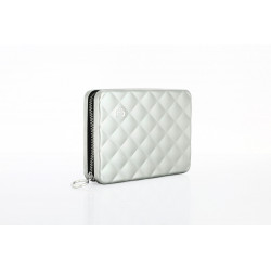 Porte cartes ÖGON DESIGNS Quilted Passport Silver