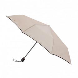 Parapluie Pliant Femme Les Esentiels Maison Piganiol 55.330 Mastic/Noir-Maroquinerie Quey Charlieu